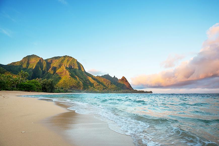 beach in kauai hawaii.