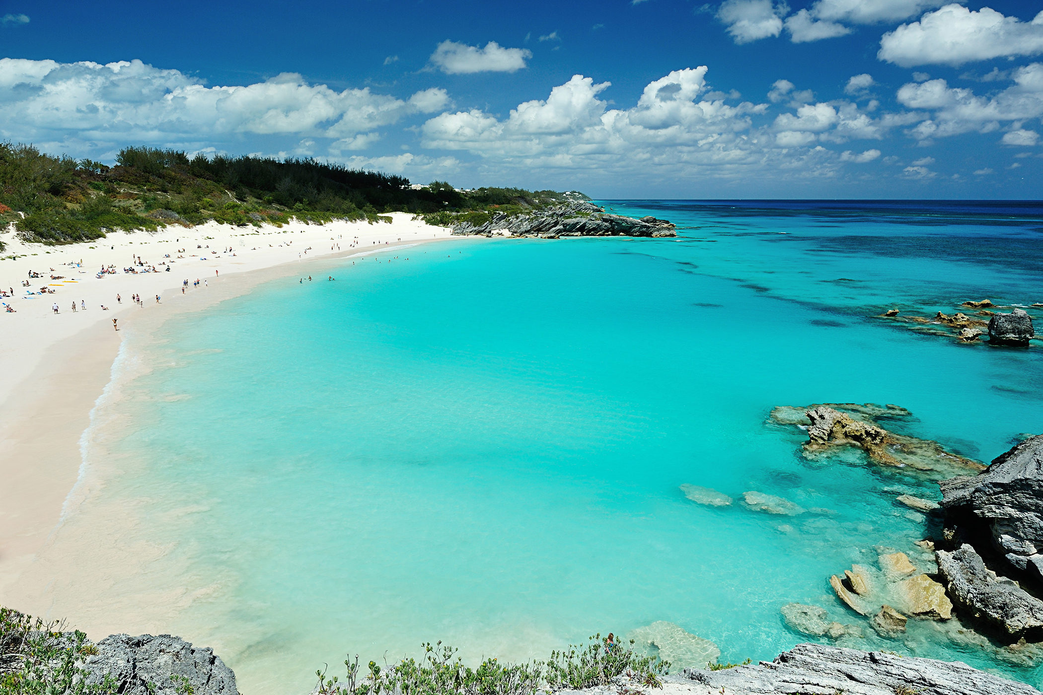 bermuda beach and bay.