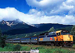 Riding the rails through the Canadian Rockies