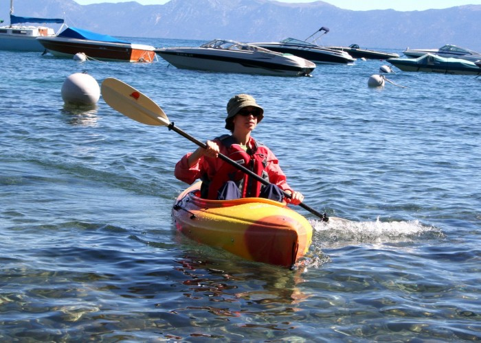 Lakeside fun in Tahoe, California