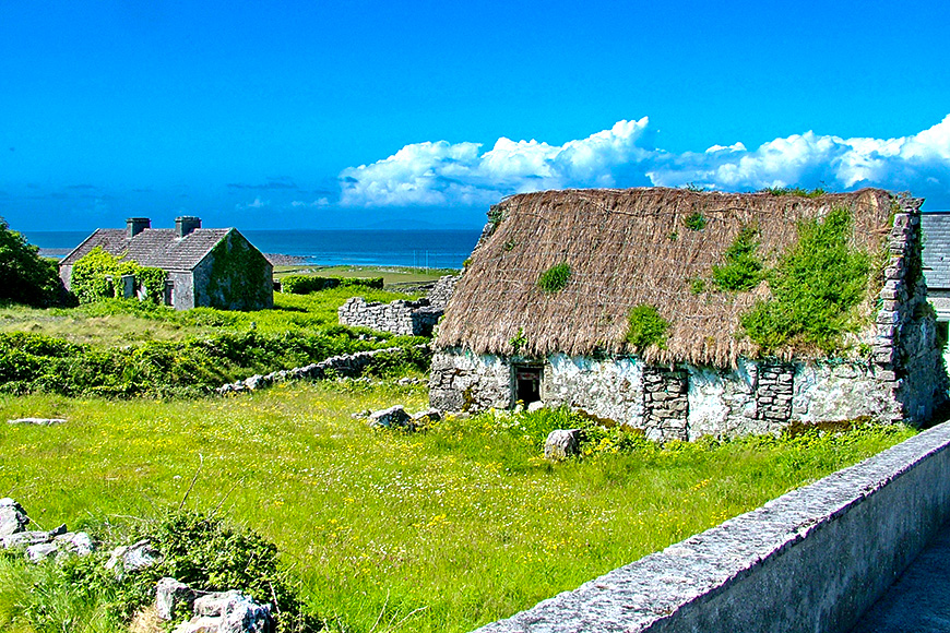 Thatched Cottage on Inis Mór, Aran Islands, Ireland