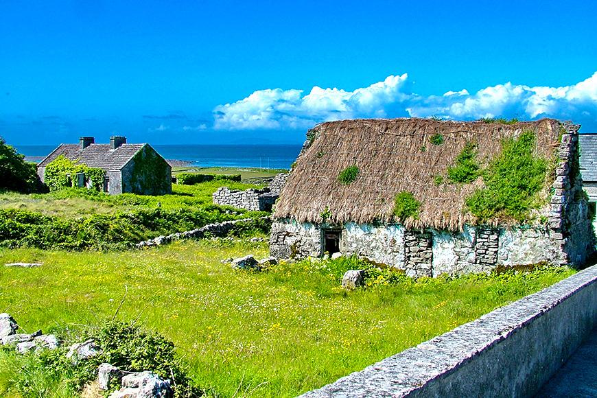 Thatched Cottage on Inis Mór, Aran Islands, Ireland
