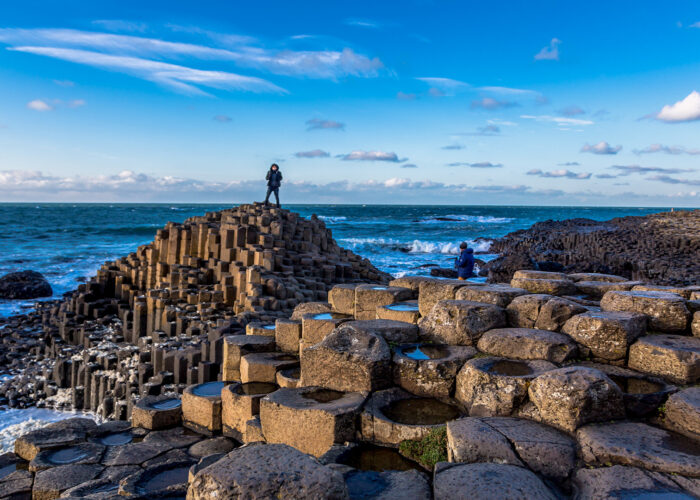 Giants of Causeway in Northern Ireland