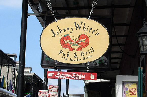 Johnny White's and the French Quarter