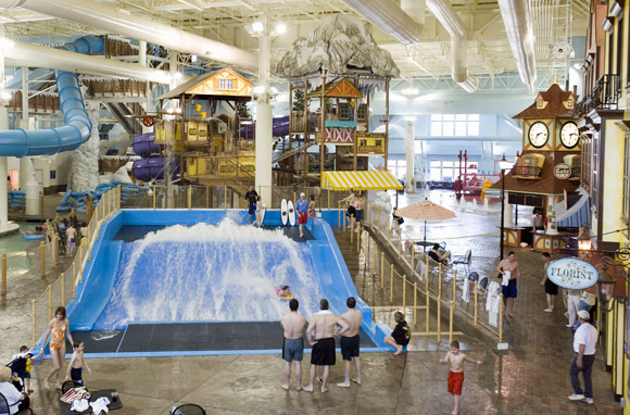 Indoor Surfing at Avalanche Bay, Boyne Falls, MI