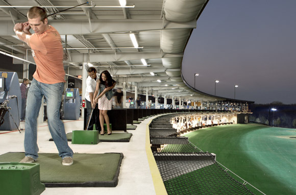 TopGolf's Hot Outdoor Driving-Range Scene, Chicago, IL