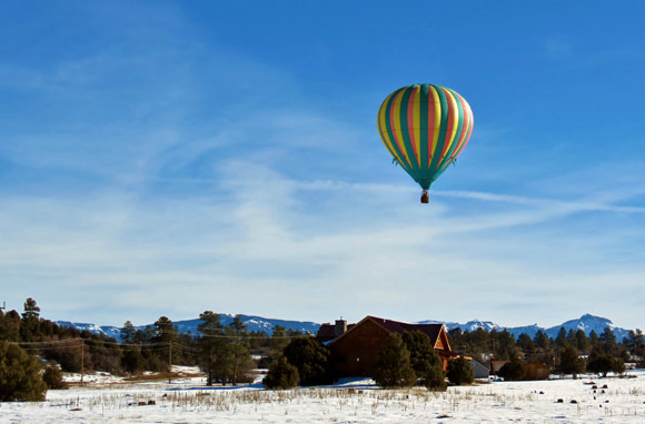 Hot-Air Ballooning Above the San Juan Mountains, Pagosa Springs, CO