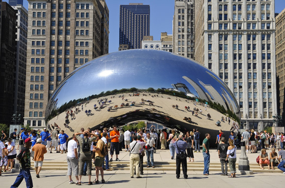'Cloud Gate' Sculpture, Chicago