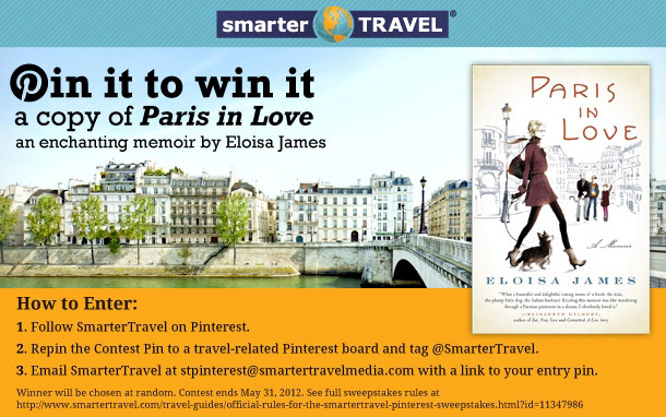 Pinterest Giveaway for 'Paris in Love' by Eloisa James