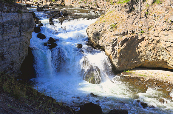 Firehole River Canyon, Yellowstone National Park, Wyoming