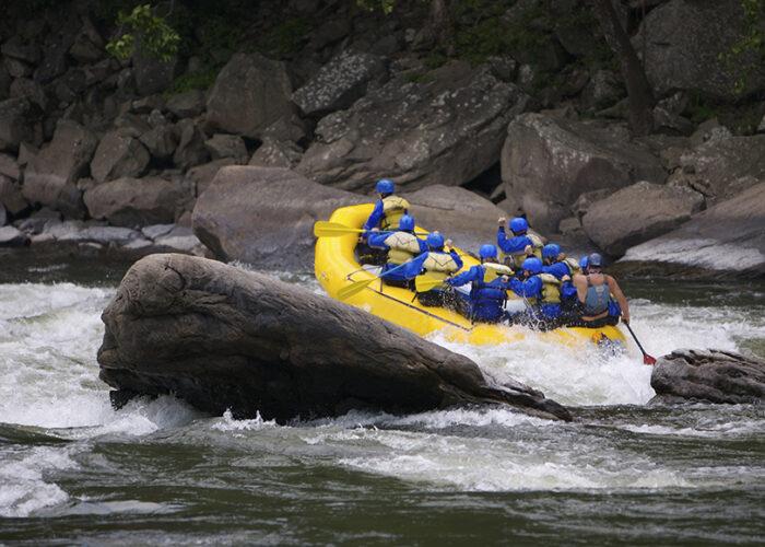 white water rafting in West Virginia.