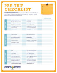 the essential pre trip checklist smartertravel
