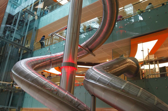 Four-Story Indoor Slide, Changi International Airport, Singapore