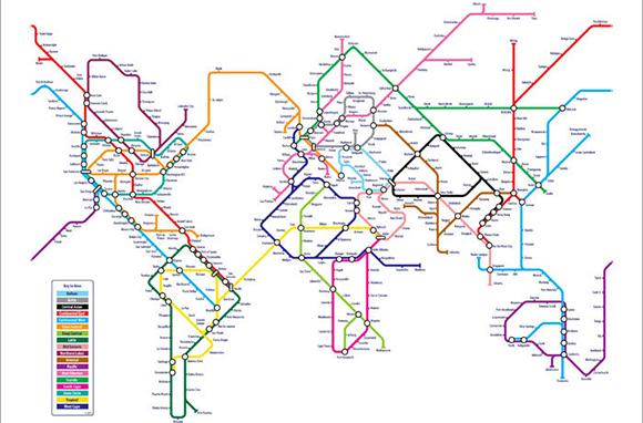 Tube World Map