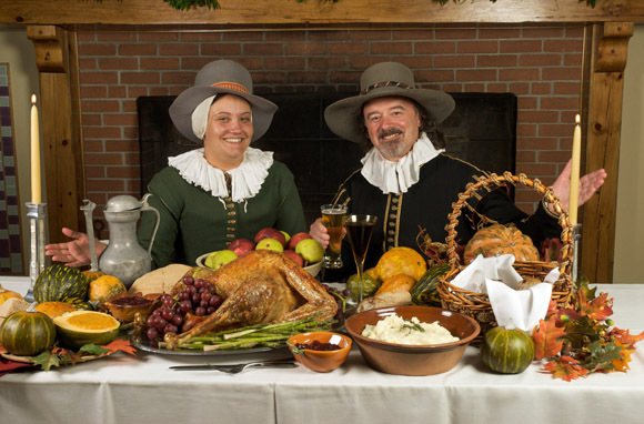 Dine with Pilgrims at Plimoth Plantation, Plymouth, Massachusetts