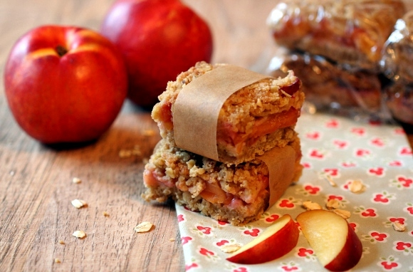 Stone-Fruit Oatmeal Square