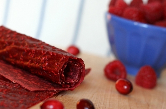 Cran-Raspberry Fruit Leather
