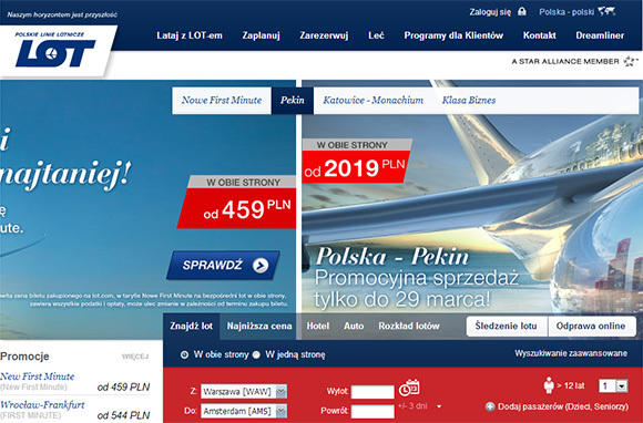 Check International Airline Websites for Deals
