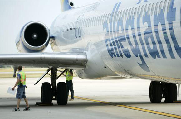 allegiant air's planes