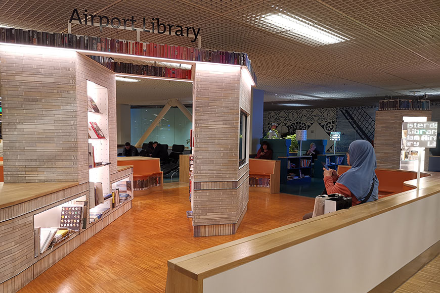 amsterdam schiphol airport library.
