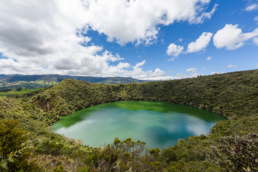 Guatavita Bogota Lake mythical places.