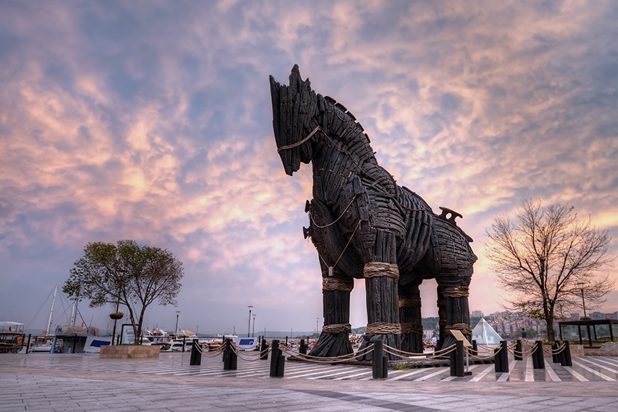 Turkey trojan horse mythical places.