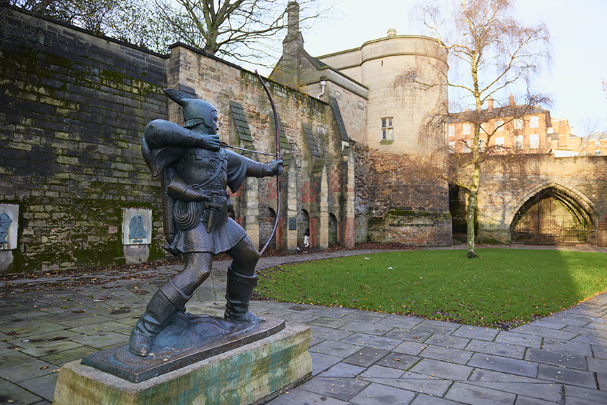 nottingham castle Robin Hood mythical places.