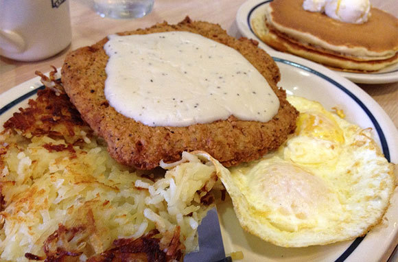 IHOP Country Fried Steak & Eggs with Sausage Gravy