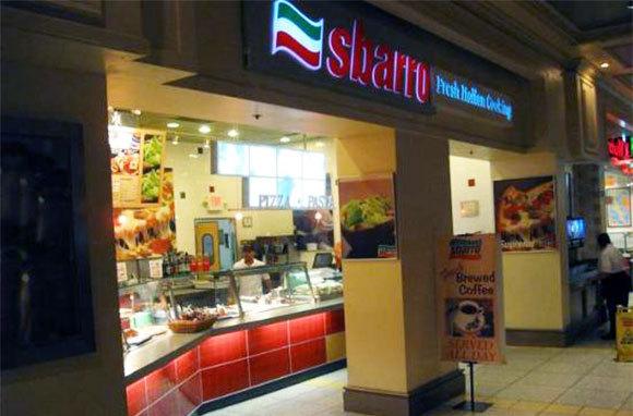 Fettuccini Alfredo, Sbarro