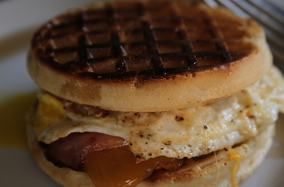 Make a Waffle Breakfast Sandwich (or Taco!)
