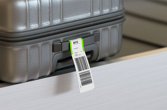 Baggage Tag as Lint Remover