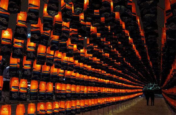 Jinju Namgang Yudeung Festival, Jinju-si Gyeongsangnam-do, South Korea