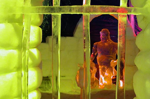 Snow and Ice Sculpture Festival, Bruges, Belgium