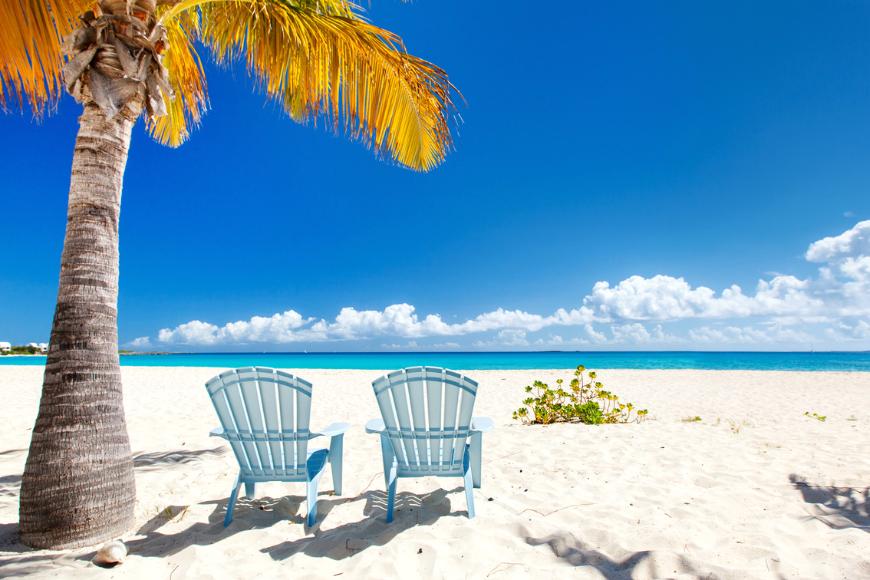 Caribbean beach on anguilla island.