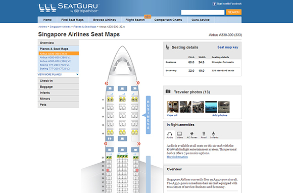 Consult SeatGuru to Pick a Better Seat
