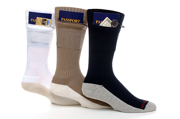 Zip It Gear Passport Security Socks