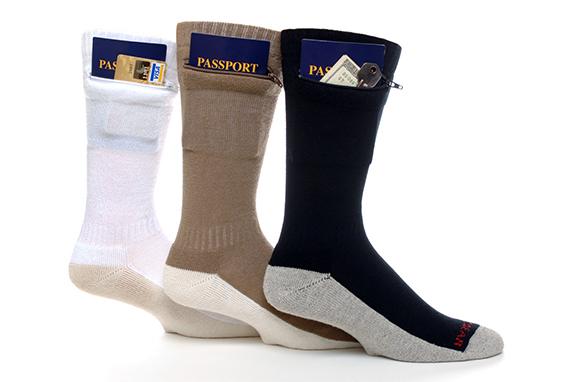 Zip It Gear Passport Security Socks