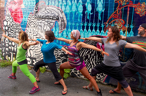 Downtown Yoga Tour, Asheville, North Carolina