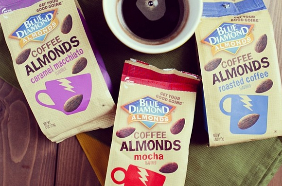 Blue Diamond Coffee Almonds Mocha Flavored