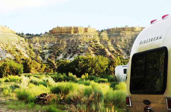Airstream Camping, Escalante, Utah