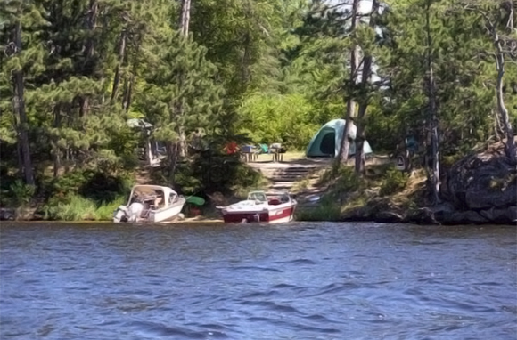 Boat-In Camping, Voyageurs National Park, Minnesota