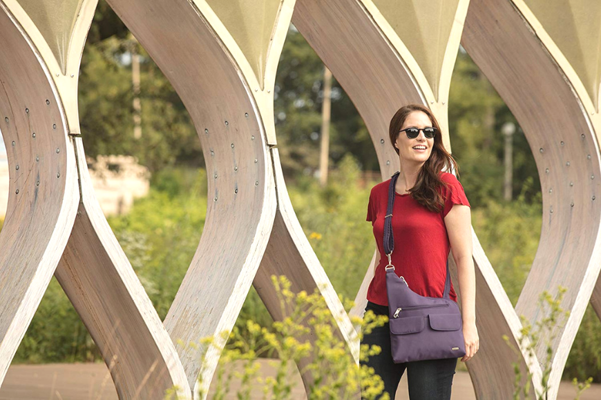 travelon anti-theft classic crossbody bucket bag.