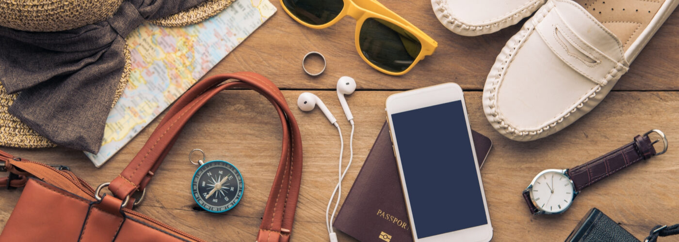 travel accessories for vacation.