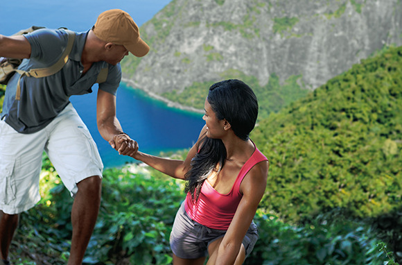 Climbing the Pitons, St. Lucia