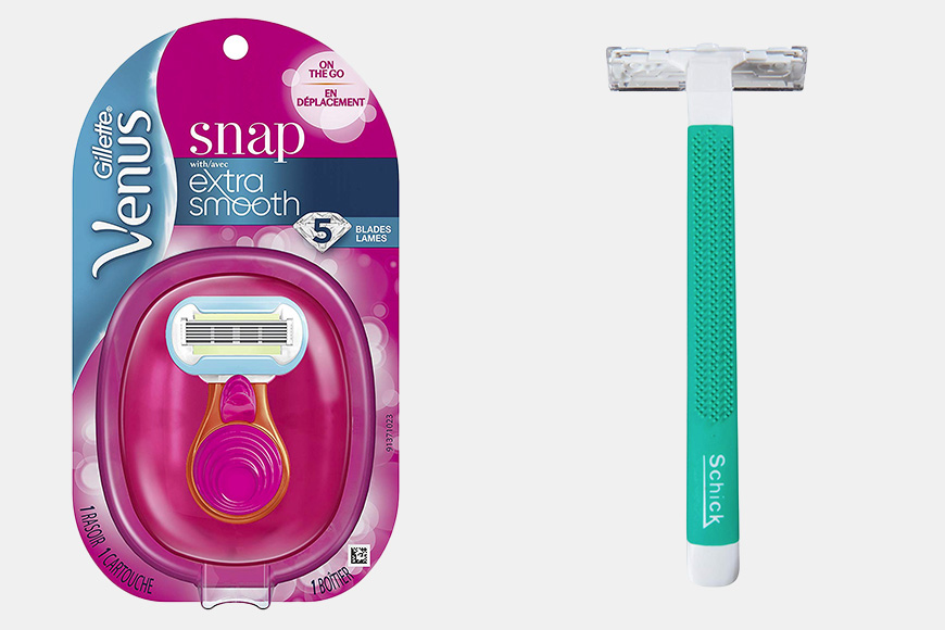 Razors for travel products