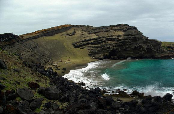 Green: Papakolea Beach, Big Island, Hawaii