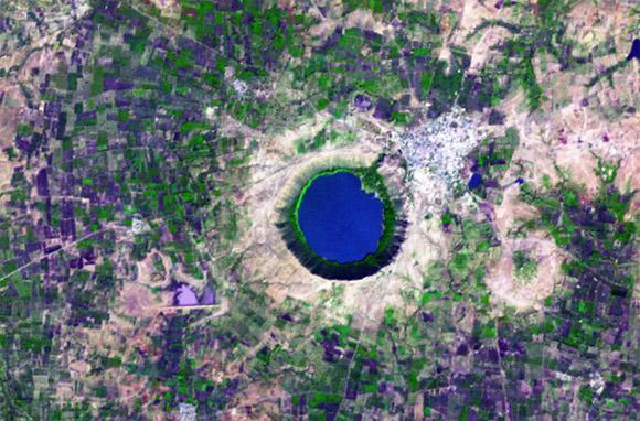 Lonar Crater and Lake, India