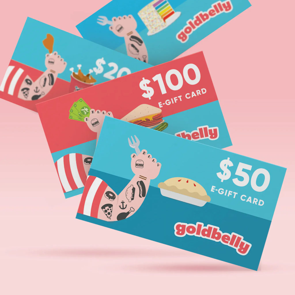 Set of Goldbelly gift cards