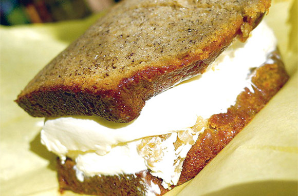 Banana Bread Ice Cream Sandwich