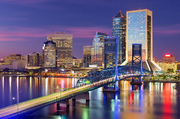 Jacksonville from New York City via American